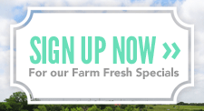 Sign up for FarmHouse Fresh goodness!